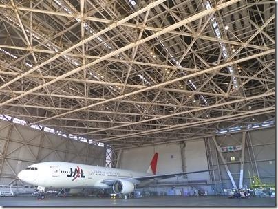 JAL工場見学飛行機