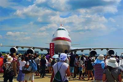 千歳基地航空祭での政府専用機